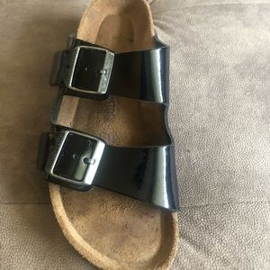 Birkenstock Arizona patent leather.